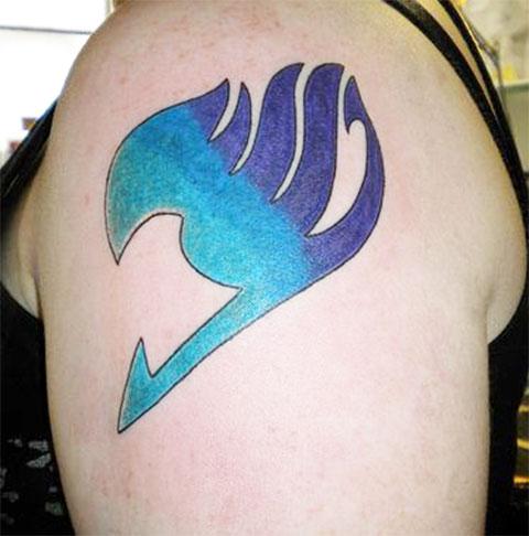 Татуировка хвост феи - фото