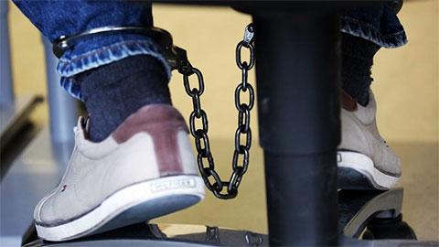 Кандалы на ногах