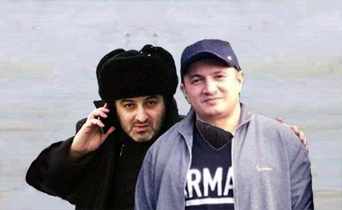 Слева воры в законе: Арман Джанинян (Арман Калужский) и надир Салифов (Лоту Гули)