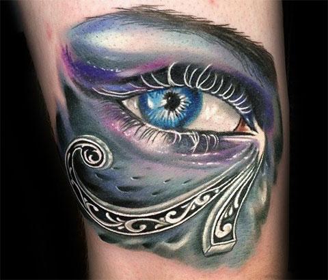 Цветная тату глаз Гора