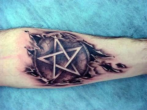 Татуировка пентаграмма