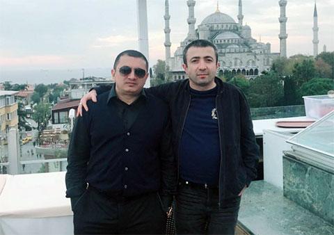 Слева воры в законе: Надир Салифов (Гули) и Рашад Исмаилов (Рашад Гянджинский)