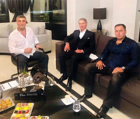 Слева: Седат Пекер, Бадри Когуашвили и Гурсель Сайфулов