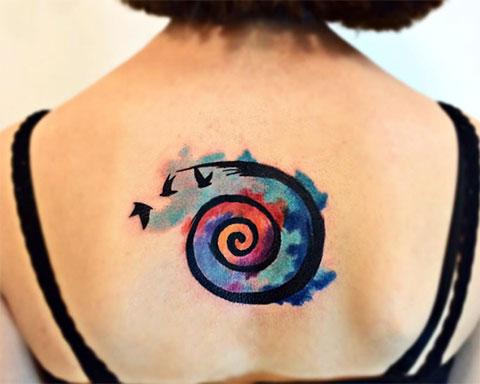 Цветная тату спираль