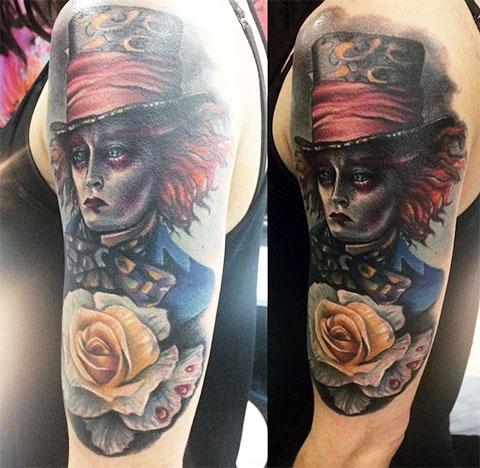 Татуировка Безумный шляпник
