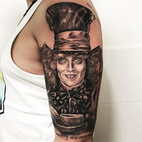 Тату Безумный шляпник