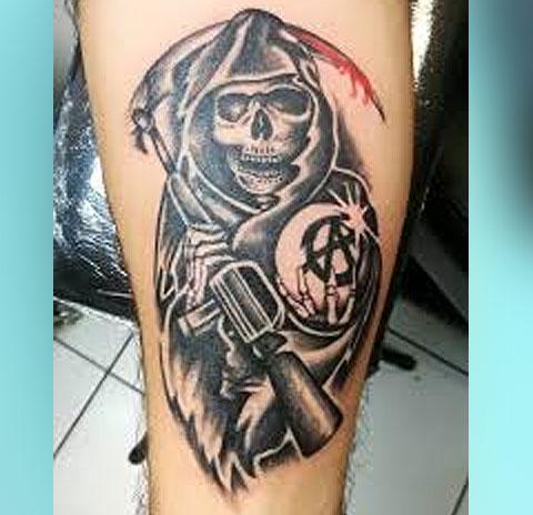 Татуировка сыны анархии - фото