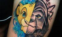 Тату король лев