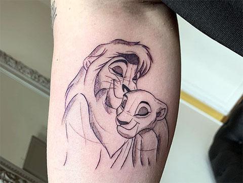 Татуировка король лев