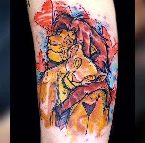 Татуировка король лев - фото