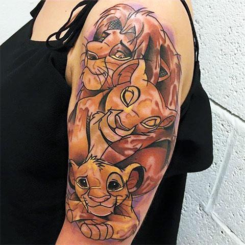 Фото татуировки король лев