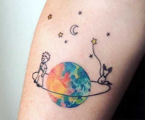 Татуировка маленький принц