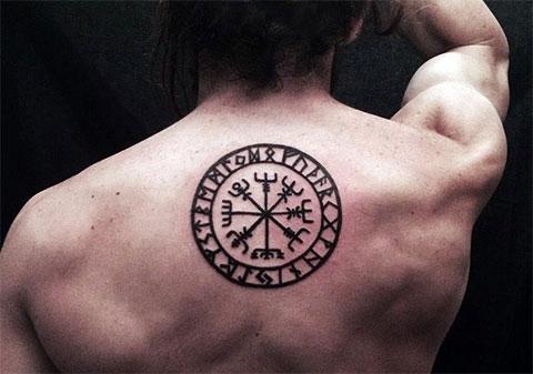 Тату славянский компас