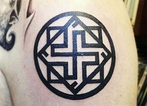 Звезда Руси - фото татуировки