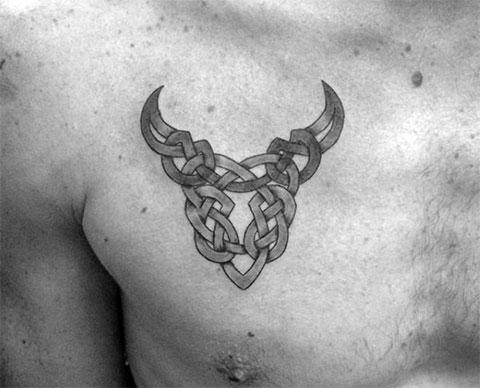 Тату знак зодиака телец для мужчин