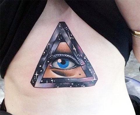 Тату глаз в треугольнике для девушек