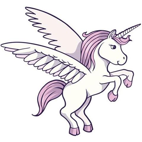 Единорог с крыльями - эскиз для татуировки