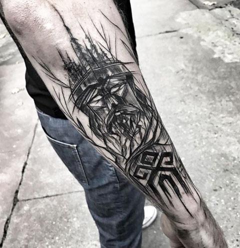 Тату-рукав бог Велес