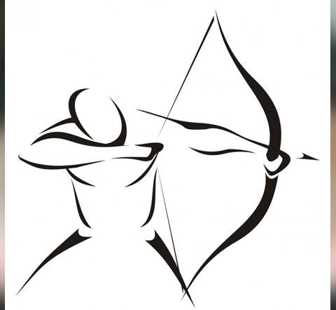 Эскиз стрельца для татуировки