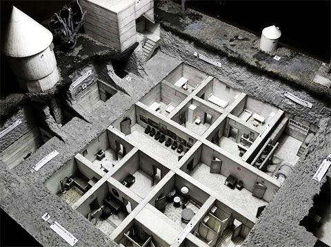 Макет бункера Гитлера в Берлине