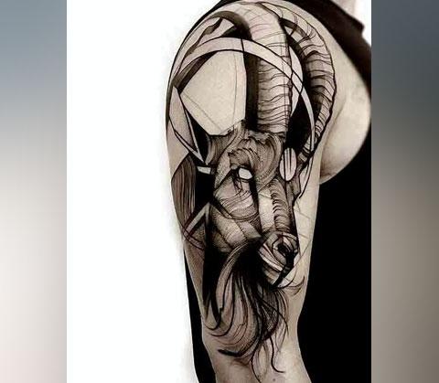 Татуировка козерога для мужчин