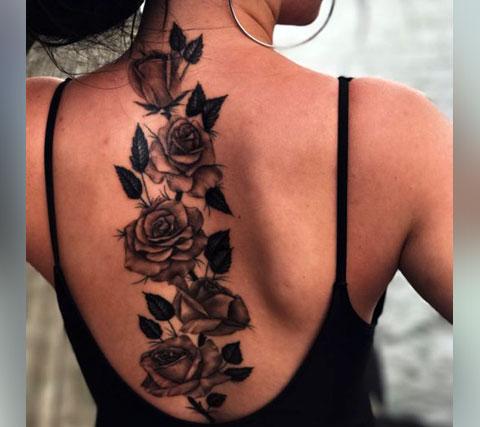 Женские татуировки на спине - фото