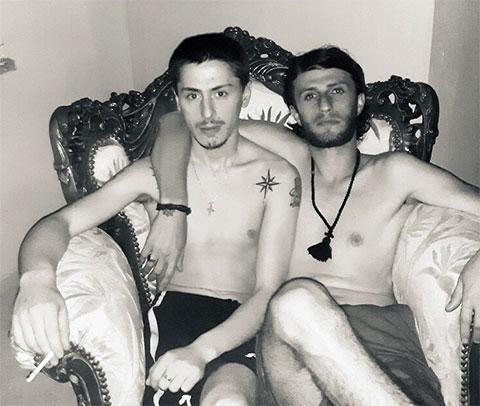 Слева: вор в законе Георгий Киладзе - Гега Озургетский