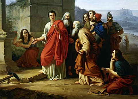 Древние Римляне читают проскрипции