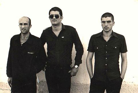 Слева воры в законе: Паата Горгишели, Мирон Мамедов, Тариел Поцхверия, 1982 год, Грузия, ИТК-46; Цулукидзе