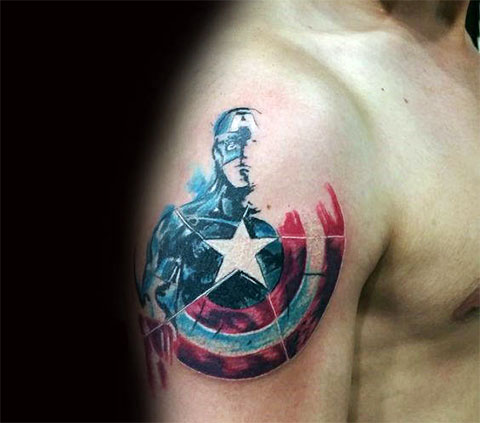 Тату капитан Америка