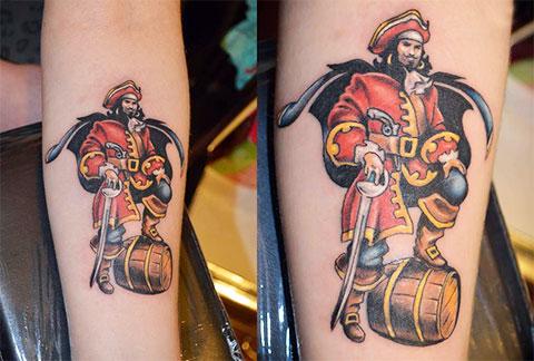 Татуировка капитан Морган