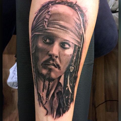 Татуировка капитан Джек Воробей