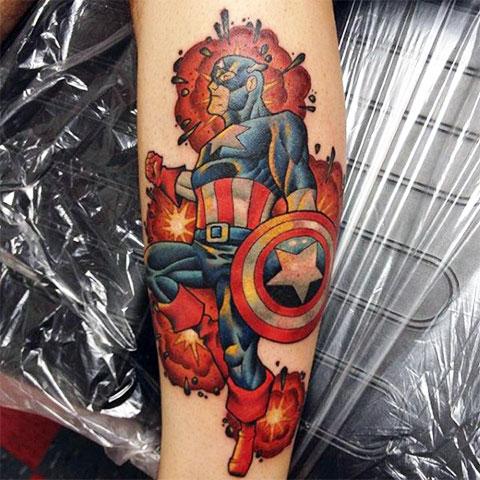 Татуировка капитан Марвел