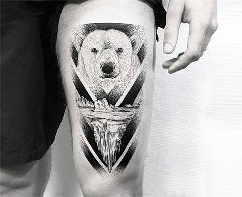 Тату полярный медведь