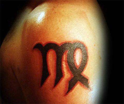 Тату дева знак зодиака для мужчин
