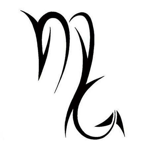 Эскиз знак зодиака дева для тату