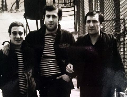 Слева воры в законе: Мераб Размадзе, Важа Рамишвили и Вахо Шелегия
