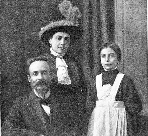 Вера Чеберяк с мужем и дочерью