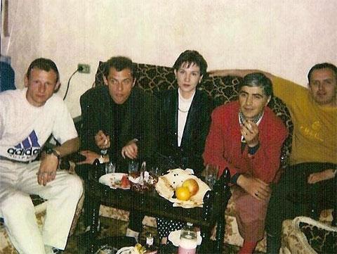 Слева воры в законе: 1) Сергей Волков (Коммуняй), 2) Николай Сенякин (Синий), 4) Тариел Поцхверия (Коконо), 1993 год