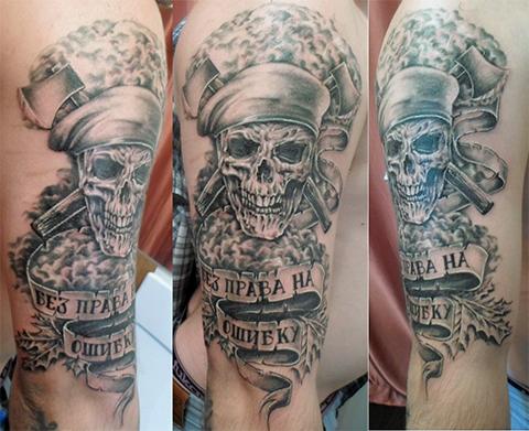 Армейская татуировка с черепом