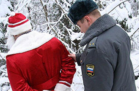 Задержание Деда Мороза