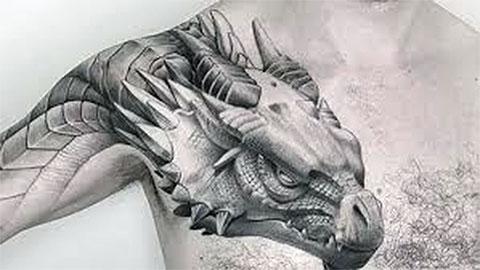 Тату дракон для мужчин