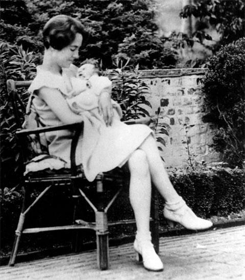 Анна Морроу с Чарльзом Линдбергом младшим