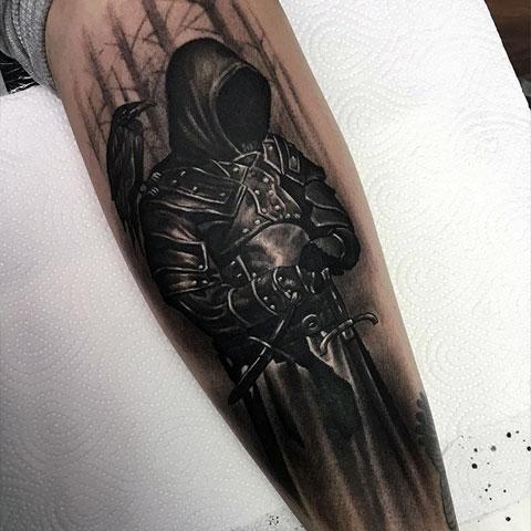 Тату темный рыцарь