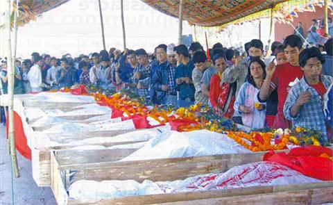 Похороны королевской семьи в Непале