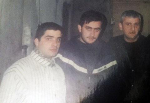 Слева воры в законе:  Давид Гелашвили (Джугович), Варлам Кухианидзе (Ватия), Гога Вацадзе (Гога Кутаисский)