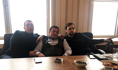 Слева воры в законе: Роман Дмитриев (Рома Ставропольский), Надыр Салифов (Гули), Николай Дгебуадзе (Ника Гагринский)