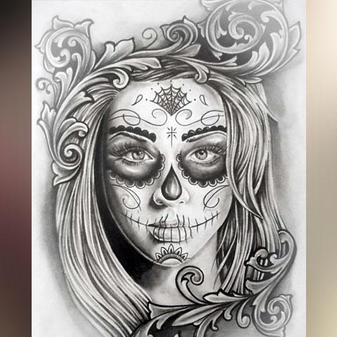 Эскиз для татуировки Чикано
