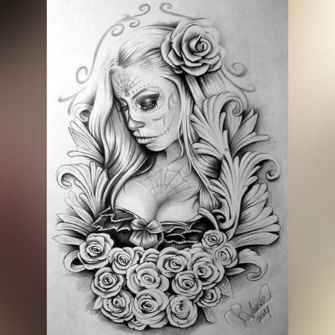 Эскиз для Чикано татуировки