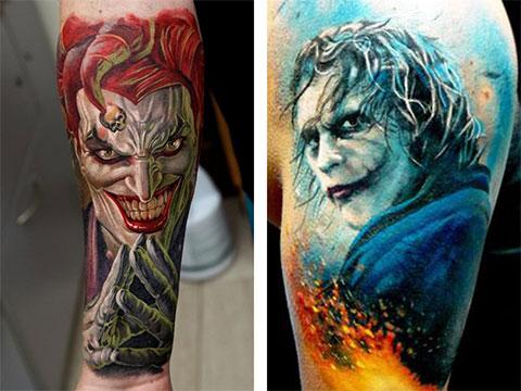 Татуировки с Джокером на руках